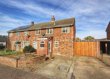 Thumbnail 3 bed semi-detached house for sale in Chestnut Road, Glemsford, Sudbury
