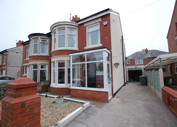 Thumbnail 3 bedroom semi-detached house for sale in Belvere Avenue, Blackpool