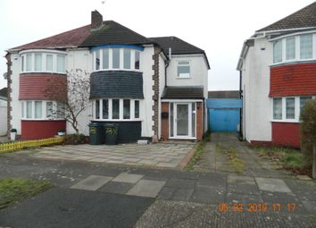 Thumbnail 3 bed semi-detached house to rent in Darley Avenue, Hodge Hill, Birmingham