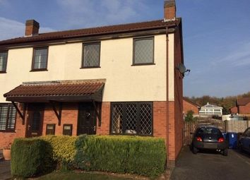 Thumbnail 3 bed semi-detached house for sale in Kedleston Close, Stretton, Burton-On-Trent