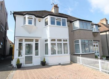 Thumbnail 3 bed semi-detached house for sale in Selwood Road, North Cheam, Sutton
