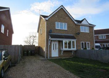 Thumbnail 2 bed semi-detached house for sale in Harvest Close, Stilton, Peterborough