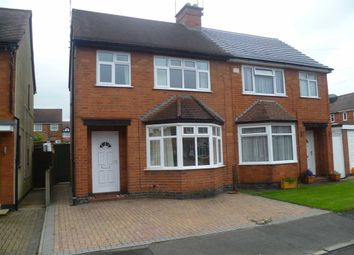 Thumbnail 3 bed semi-detached house to rent in Burleigh Road, Hinckley, Leicestershire