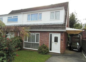 Thumbnail 3 bed semi-detached house for sale in Cheriton Avenue, Cefn Hengoed, Ystrad Mynach, Caerphilly