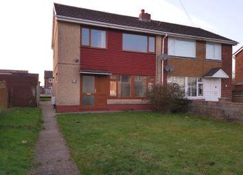 Thumbnail 3 bed semi-detached house for sale in Lon Einon, Penllergaer, Swansea