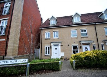 Thumbnail 3 bed town house for sale in Mackintosh Close, Ipswich
