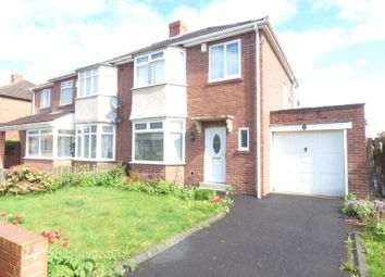Thumbnail 3 bed semi-detached house for sale in Saxton Grove, High Heaton, Newcastle Upon Tyne
