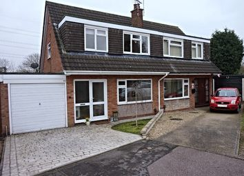 Thumbnail 3 bed semi-detached house for sale in Millfield Close, Leicester