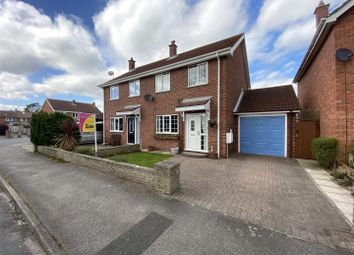 Thumbnail 3 bed semi-detached house for sale in Saunters Way, Riccall, York