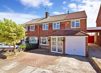 Thumbnail 4 bed semi-detached house for sale in Hever Croft, Rochester, Kent
