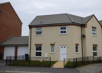 Thumbnail 3 bed semi-detached house to rent in Wendling Road Kingsway, Quedgeley, Gloucester