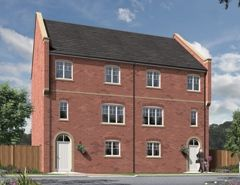 "Thumbnail 4 bedroom town house for sale in ""The Minster"" at Peases Cottages, South Terrace, Darlington"
