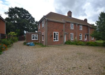 Thumbnail 3 bed semi-detached house for sale in Bunwell, Norwich