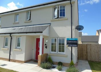 Thumbnail 3 bedroom semi-detached house to rent in Rhes Brickyard Row, Llanelli