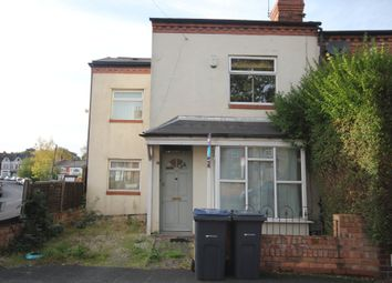 Thumbnail 4 bed end terrace house to rent in Clarence Road, Harborne