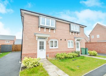 Thumbnail 3 bedroom semi-detached house for sale in Goldworkings Crescent, Glenfield, Leicester
