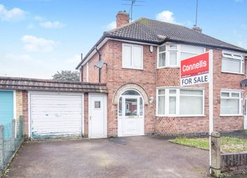 Thumbnail 3 bed semi-detached house for sale in Ruskington Drive, Wigston, Leicester