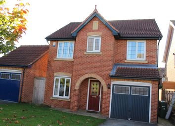 Thumbnail 4 bed detached house to rent in Redgrave Close, York