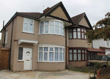 Thumbnail 3 bed semi-detached house to rent in Kingshill Avenue, Kenton, Harrow
