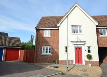 Thumbnail 3 bed link-detached house for sale in Brookfield Close, Long Stratton, Norwich, Norfolk