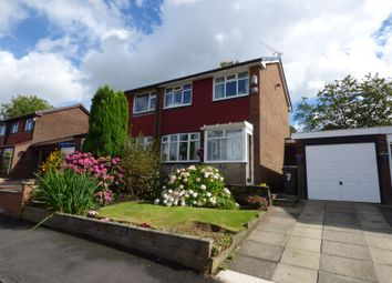 Thumbnail 3 bed semi-detached house for sale in Crossbank Avenue, Springhead, Saddleworth, Oldham, Greater Manchester