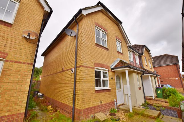 Thumbnail End terrace house to rent in Ingram Close, Hawkinge, Folkestone
