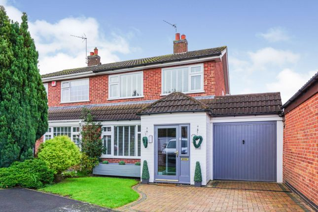 Thumbnail Semi-detached house for sale in Balliol Avenue, Syston, Leicester