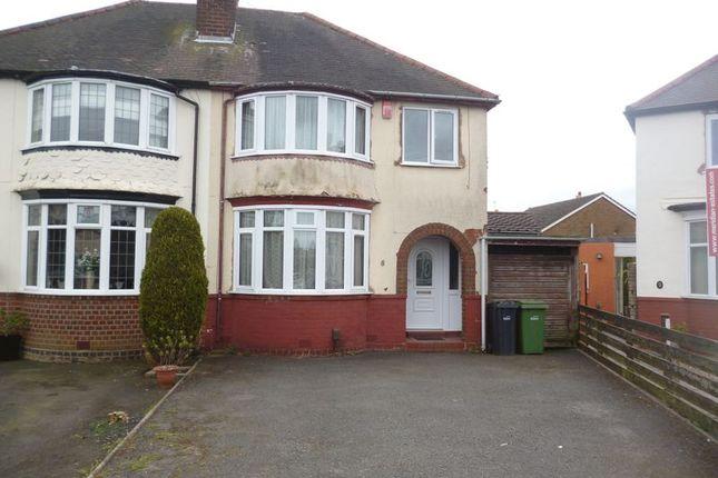 Thumbnail Semi-detached house for sale in Graham Road, Halesowen