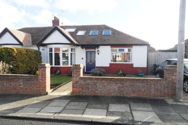 Thumbnail Bungalow to rent in Chatsworth Gardens, Whitley Bay