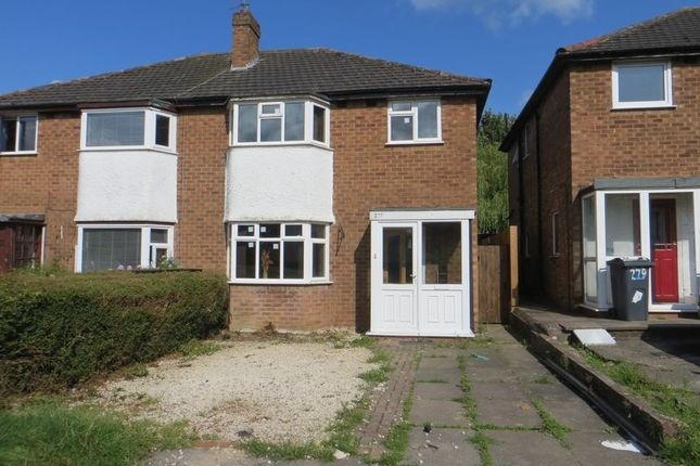 Thumbnail Semi-detached house to rent in Alvechurch Road, Northfield, Birmingham