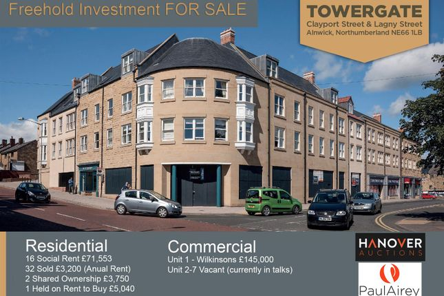 Thumbnail Commercial property for sale in Clayport Mews, Clayport Street, Alnwick
