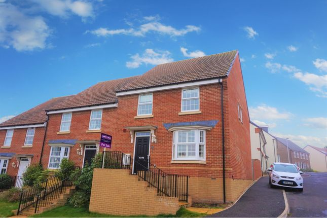 Thumbnail End terrace house for sale in Cambridge Way, Cullompton