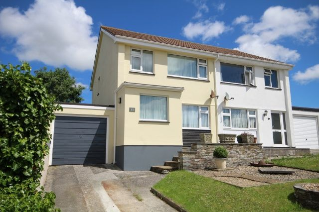 Semi-detached house for sale in Marshall Avenue, Egloshayle, Wadebridge