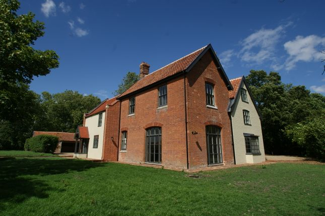 Thumbnail Detached house for sale in Church Road, Spexhall, Halesworth