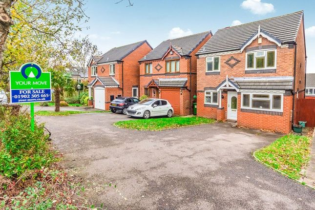 Thumbnail Detached house for sale in Bluebell Crescent, Wednesfield, Wolverhampton