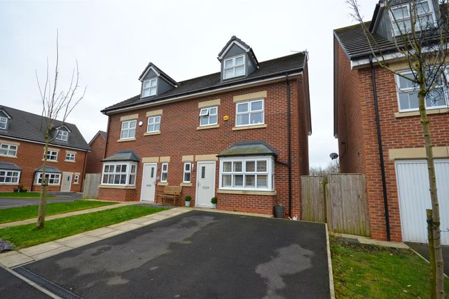 Thumbnail Semi-detached house for sale in Shire Croft, Mossley, Ashton-Under-Lyne