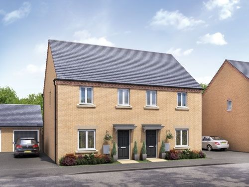 "3 bedroom semi-detached house for sale in ""The Blickling"" at Barleythorpe Road, Oakham"