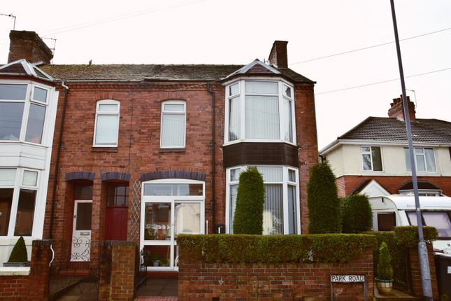End terrace house for sale in Park Road, Silverdale, Newcastle-Under-Lyme