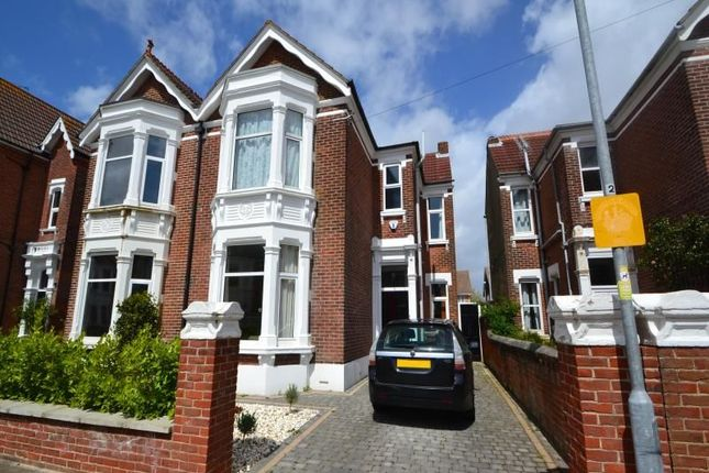 Thumbnail Semi-detached house to rent in Craneswater Avenue, Southsea