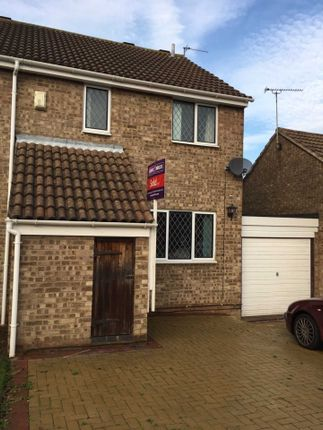 Thumbnail Semi-detached house to rent in Brackenfield Way, Thurmaston, Leicester
