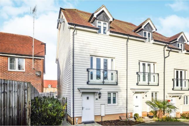 Thumbnail End terrace house for sale in Greystones, Willesborough, Ashford, Kent