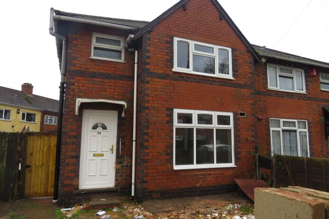 Thumbnail Semi-detached house to rent in Portsea Street, Walsall