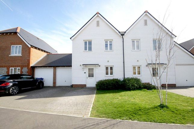Thumbnail Semi-detached house to rent in White Admiral Grove, Iwade, Sittingbourne