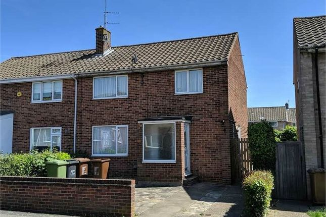 Thumbnail End terrace house to rent in Calder Close, Corby, Northamptonshire