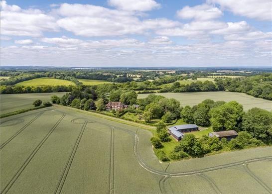 Thumbnail Detached house for sale in Weston Corbett, Basingstoke Hampshire
