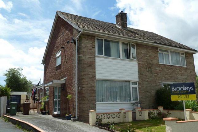 Thumbnail Semi-detached house to rent in Gresham Close, Tamerton Foliot, Plymouth, Devon