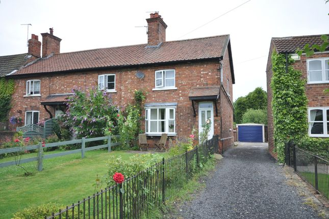 Thumbnail End terrace house to rent in Back Street, Laxton, Goole