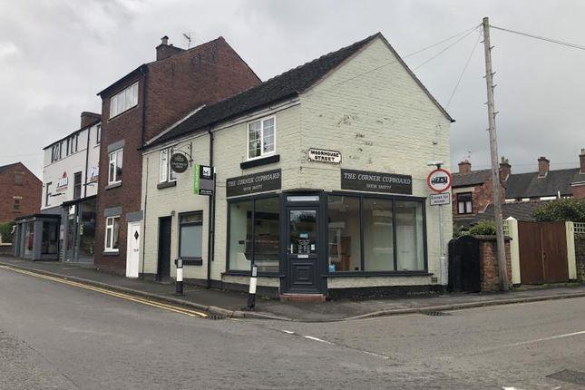 Thumbnail Retail premises for sale in Shop & Flat, 12, Ashbourne Road, Leek