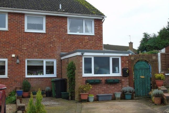 Thumbnail Semi-detached house for sale in Laburnum Close, Ross-On-Wye, Herefordshire