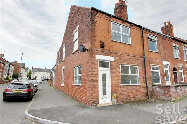 Thumbnail End terrace house for sale in Chapel Road, Grassmoor, Chesterfield, Derbyshire